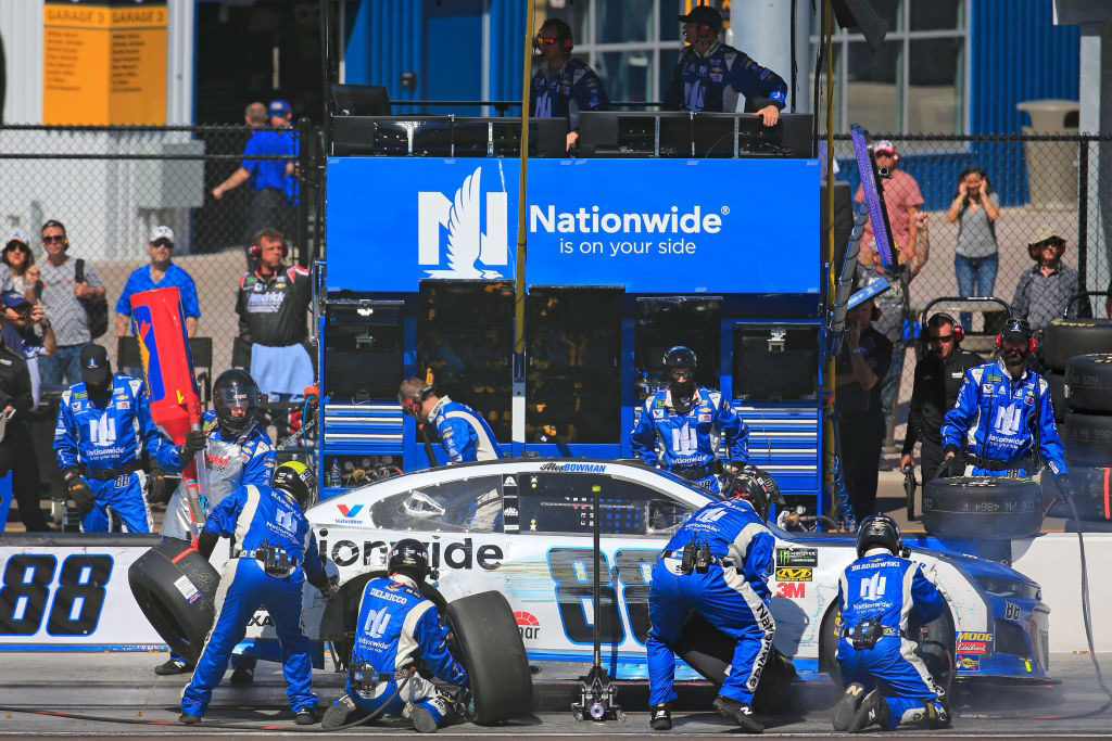 Alex Bowman crashes early in the TicketGuardian 500