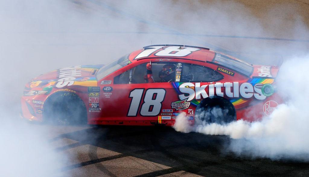 Kyle Busch wins the TicketGuardian 500 at ISM Raceway