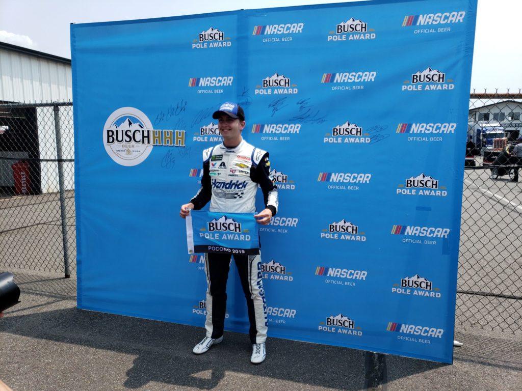William Byron earned the pole for the Pocono 400 at Pocono Raceway
