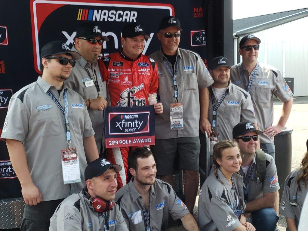 Cole Custer earned the pole for the Pocono Green 250 at Pocono Raceway.