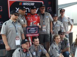 Cole Custer earned the pole for the Pocono Green 250 at Pocono Raceway.