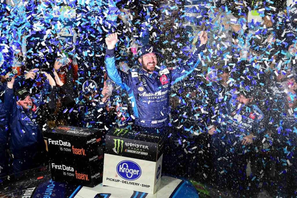 Martin Truex Jr. wins the First Data 500 at Martinsville Speedway