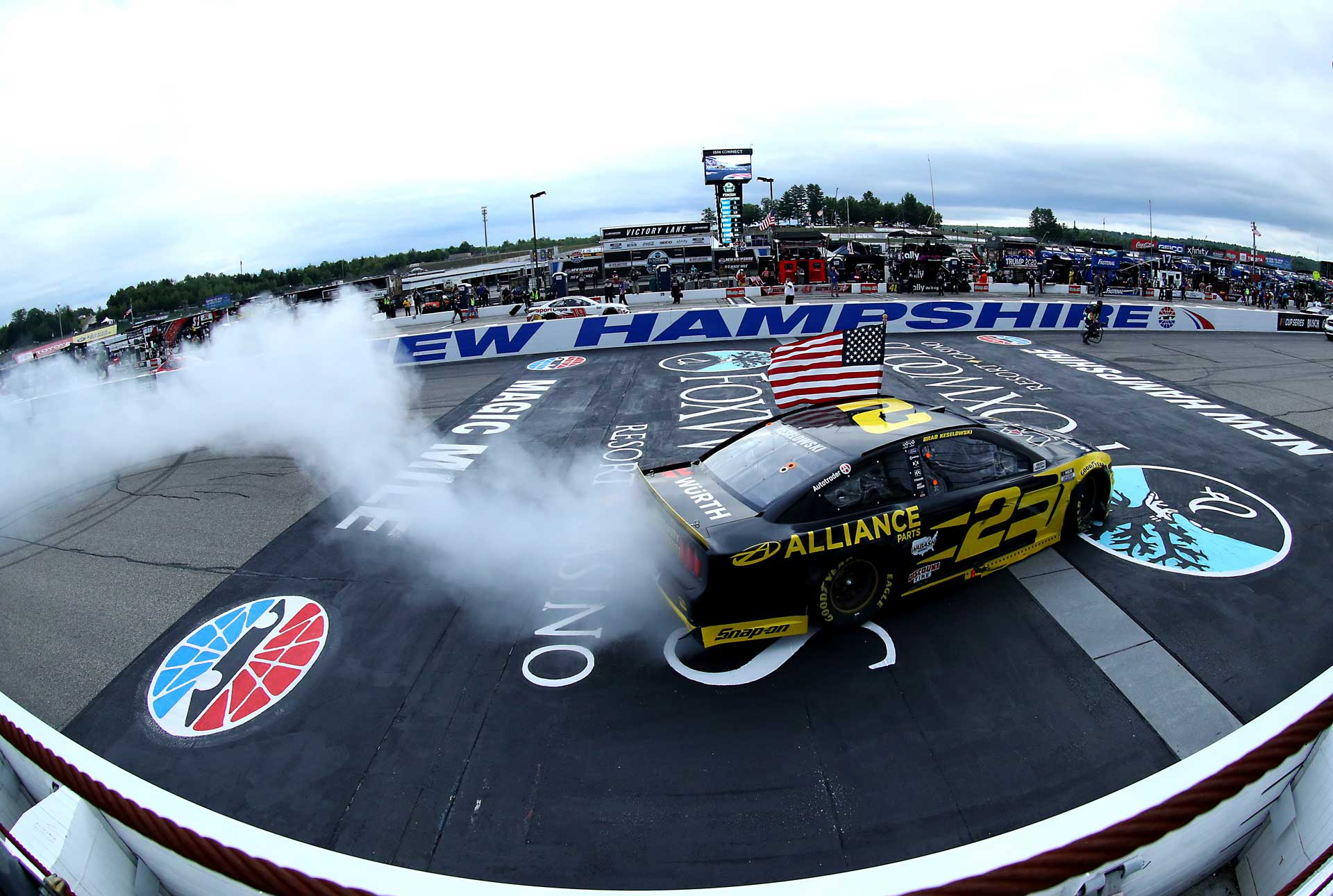 Brad Keselowski earns his third win of the season in New Hampshire